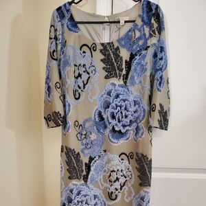 Rose Patterned Dress NEVER WORN